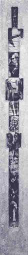 61  Papier mache reliëf met collage